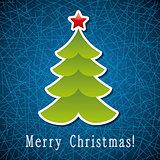 vector christmas holiday tree card