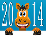 vector new year background of a horse