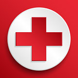 First aid medical button symbol
