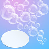 SPA aqua background with soap bubbles