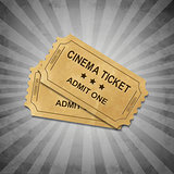 Grey Grungy Background With Tickets