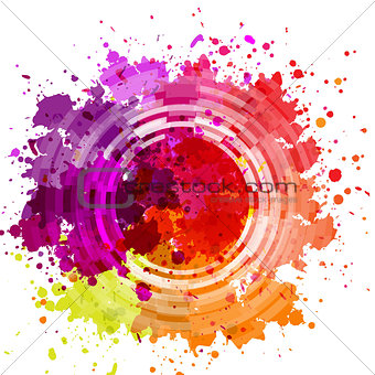 Watercolor Blot Abstract Background
