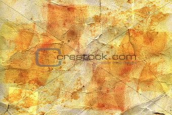 crumpled watercolor paper