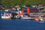Norwegian fishing port