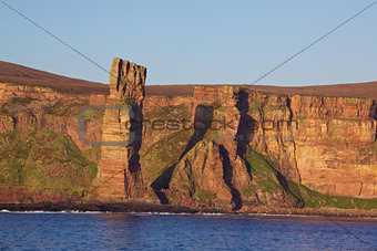 Old Man rock on Orkney Islands