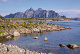 Rocky scenery on Lofoten