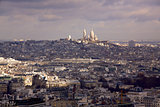 View of Paris towards Sacre Coeur
