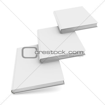 Three white book