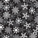 snow black pattern