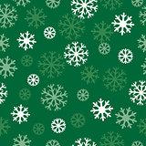 snow green pattern