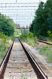 Railway tracks in green country