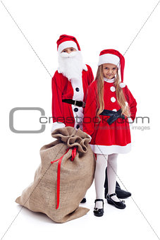 Santa and helper ready for the christmas action