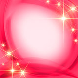 shining stars over pink background