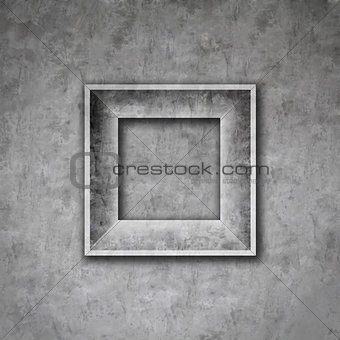 Cement photo frame wall