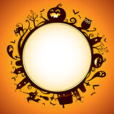 Halloween rounded border for design