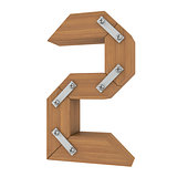 Wooden number two