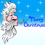Santa Claus blowing wind
