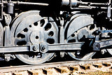 detail of steam locomotive, Colorado Railroad Museum, USA