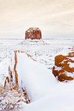 winter Merrick Butte, Monument Valley National Park, Utah-Arizon