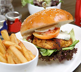 chicken cajun burger