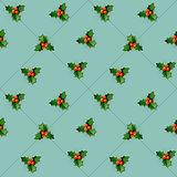 Bee on honeycomb. Seamless pattern.