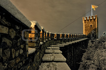 A stone fence