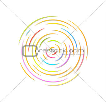 circle with color rounded lines