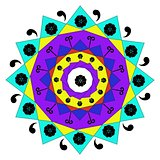 Patterned decorative mandala