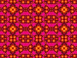 Red fractal seamless pattern