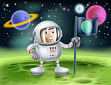 Astronaut Outer Space Cartoon