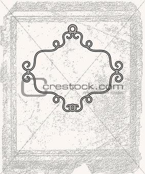 Grunge background with frame