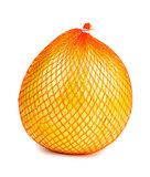 Wrapped ripe pomelo