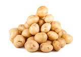 Big heap of uncooked ripe potato