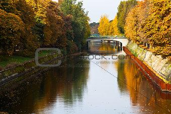 bridge and fall of leavesl on Landwehrkanal