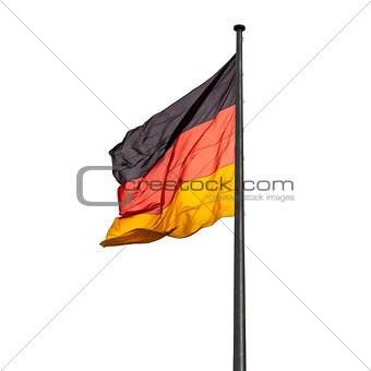 flagpole with state flag of Germany