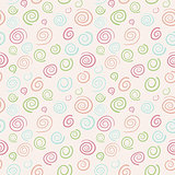 Abstract vector retro pattern - color swirls