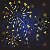 Starry fireworks