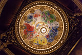 painted roof at the Opera de Paris, Palais Garnier.