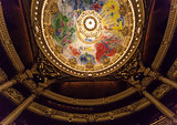 painted roof at the Opera de Paris, Palais Garnier.