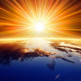 Sun above Earth