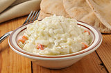 coleslaw and pita bread