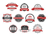 Vintage labels and banners set
