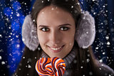 Winter Girl with Lollypop