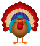 Colorful Turkey Illustration
