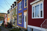 Typical St. John's Downtown Street and houses