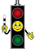 Cartoon yellow traffic light