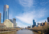 central melbourne skyline by day australia