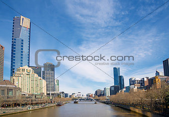 central melbourne skyline by day australia
