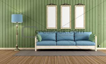 Vintage  green room