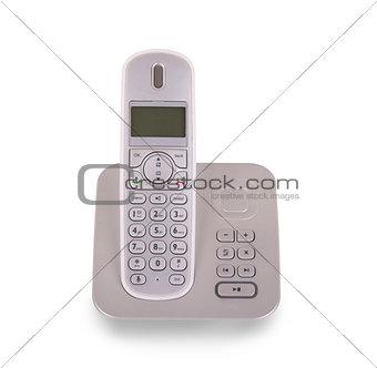 Household cordless telephone isolated